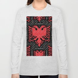 Albanian flag pattern 5 Long Sleeve T-shirt
