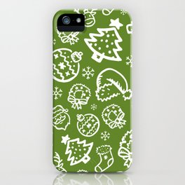 XMAS Green Pattern / Part One iPhone Case
