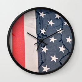 Flag Lights Wall Clock