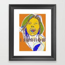 I swallow  Framed Art Print