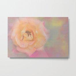 Peachy Pinky Ethereal Rose Metal Print