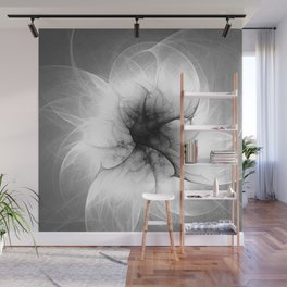 Ghost Flower Fractal Wall Mural