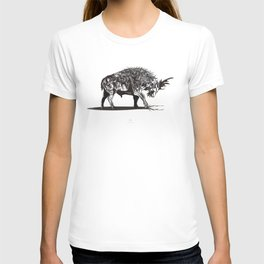Ramming 1. Black and white background. T-shirt