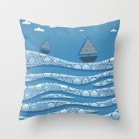 boats Throw Pillows featuring Boats by Matt Andrews