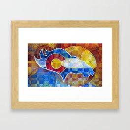 BRONCOS Framed Art Print