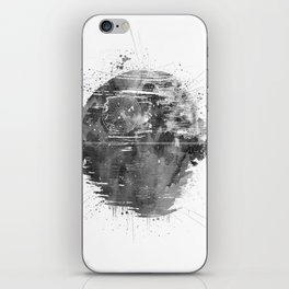Death Sta Watercolor B&W iPhone Skin