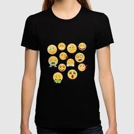 Funny Emoji Faces T-shirt