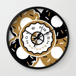 Hot and Fresh Donuts Wall Clock