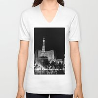 las vegas V-neck T-shirts featuring Las Vegas by Sara Sue Ess