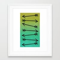 arrows Framed Art Prints featuring Arrows by Leah Flores