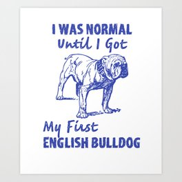 English Bulldog Dad, English Bulldog Gift Art Print