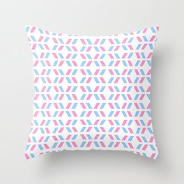 Oblique polka dot blue and pink Throw Pillow
