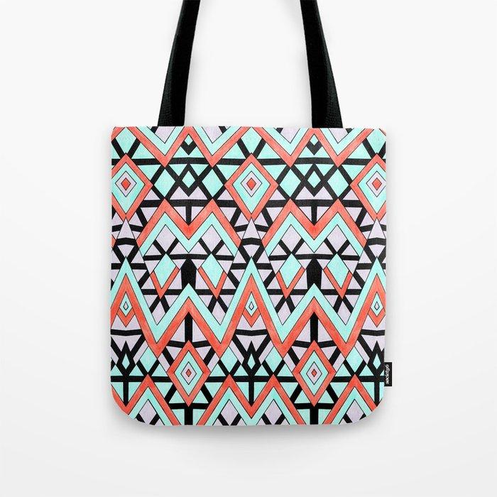 Geometric Mountains Tote Bag