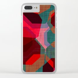 RETRO FESTIVE Clear iPhone Case