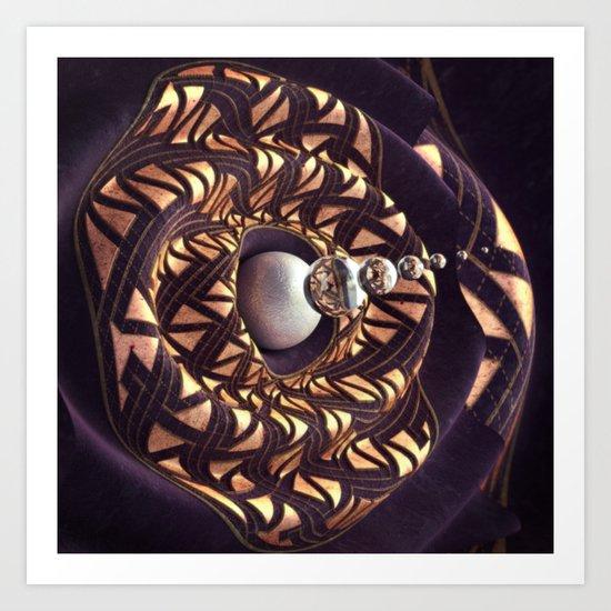 Bullseye Spiral Art Print