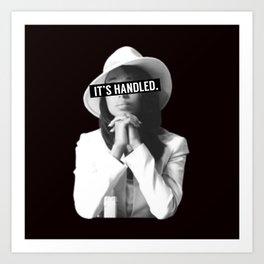 Olivia Pope Scandal It's Handled Art Print