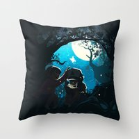 gravity falls Throw Pillows featuring Gravity by Larelley