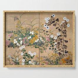 Ogata Korin Flowering Plants in Autumn Serving Tray