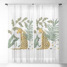 Cheetah Sheer Curtain
