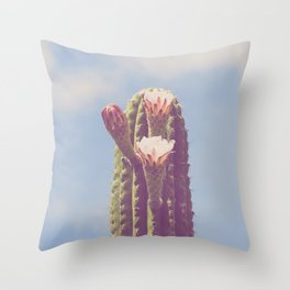 Happy Cactus :) Throw Pillow