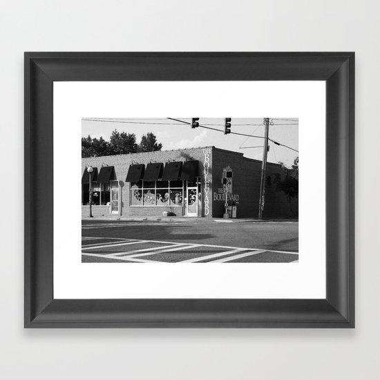 The Boulevard B&W Framed Art Print