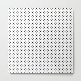 Handdrawn black dots Metal Print