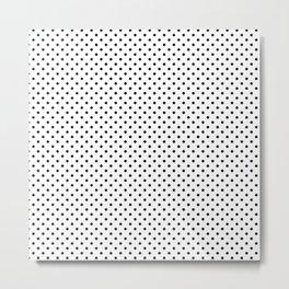 Handdrawn black dots Metal Print