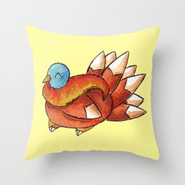 Cold but Cozy Throw Pillow