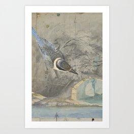 A Hemline of Water Through Smoke Art Print