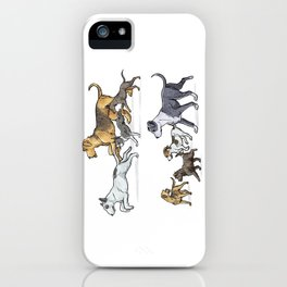 Trotting Terriers iPhone Case
