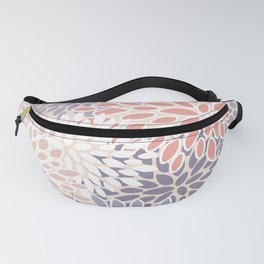 Modern Flowers Print, Coral, Pink and Purple Fanny Pack