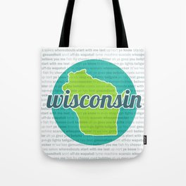 Words of Wisconsin Tote Bag