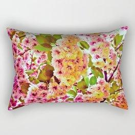 Polychrome Beauty In Full Bloom Rectangular Pillow