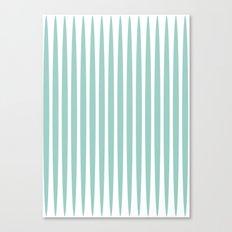 Soft green stripes Canvas Print