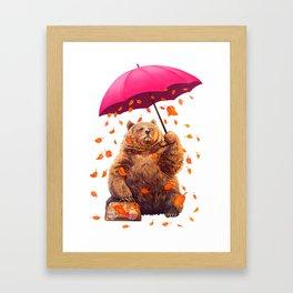autumn bear Framed Art Print