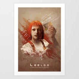 Leeloo Dallas, Multipass! Art Print