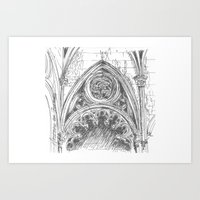 gothic Art Prints featuring gothic by Tereza Del Pilar