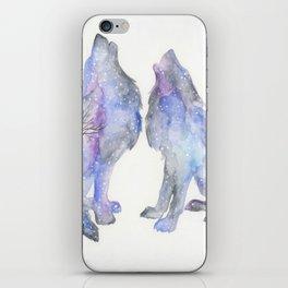 Midnight howl iPhone Skin