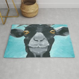 goat art.  'Willie from acrylic on canvas goat painting Rug
