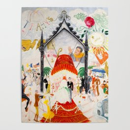 The Cathedrals of Fifth Avenue by Florine Stettheimer, 1931 Poster