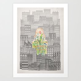 Eva City Glasshouse Art Print