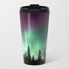 Colorful Northern Lights, Aurora Borealis Metal Travel Mug