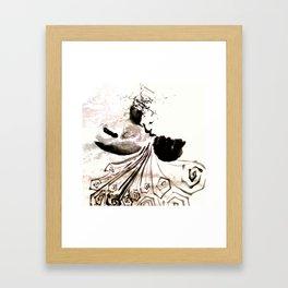 Snow woman Framed Art Print