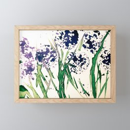 Abstract Flowers On The Meadow Framed Mini Art Print