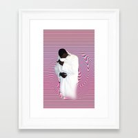 gucci Framed Art Prints featuring GUCCI by POSH OUTSIDERS