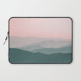 Dreamy mountains and pink sky. Laptop Sleeve
