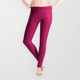 Pink Peacock // Pantone 18-2045 Leggings