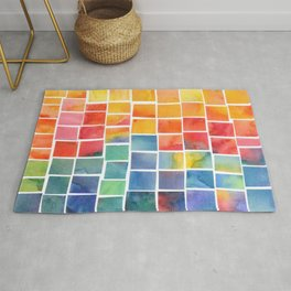 Colorful squares Rug