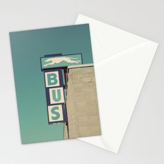 Greyhound Bus Sign Stationery Cards