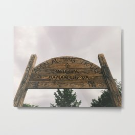 Welcome To Damascus • Appalachian Trail Metal Print